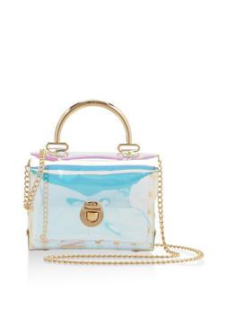 Clear Studded Crossbody Bag - 3124061591368