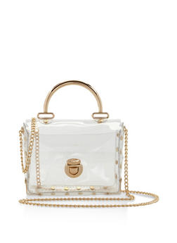 Clear Studded Crossbody Bag - 3124061591368