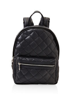 Quilted Backpack - BLACK - 3124061595325