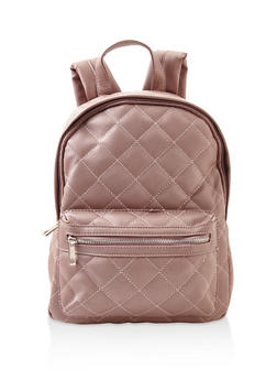 Quilted Backpack - MAUVE - 3124061595325