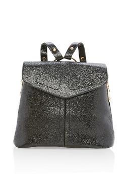 Glitter Zipper Backpack - 3124061595370