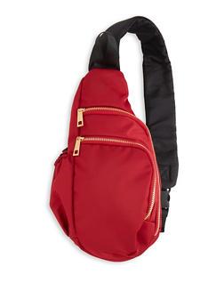 Double Zip Crossbody Backpack - 3124061595710