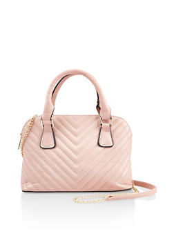 Small Quilted Bowler Bag - 3124061596132