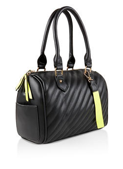 Quilted Bowler Bag - 3124061597055