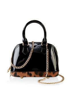 Leopard Bottom Jelly Handbag - 3124061597365