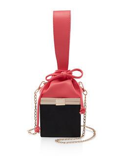 Color Block Cube Crossbody Bag - 3124061597760