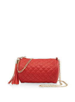 Mini Quilted Barrel Crossbody Bag - 3124061597833
