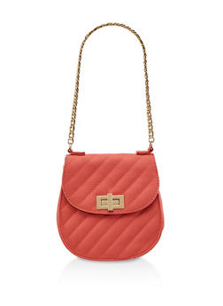 Quilted Chain Strap Handbag - 3124061597870