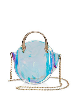 Round Iridescent Crossbody Bag - 3124067443108