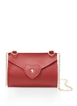 Heart Stitch Chain Crossbody Bag - 3124067447108