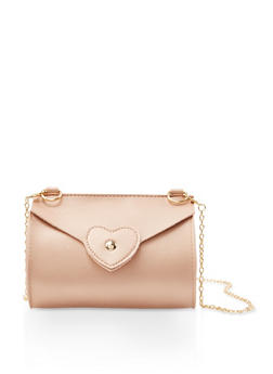 Heart Stitch Chain Crossbody Bag - 3124067447108