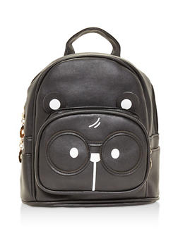 Double Zip Bear Backpack - BLACK - 3124067448020