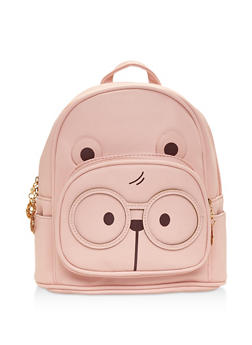 Double Zip Bear Backpack - PINK - 3124067448020