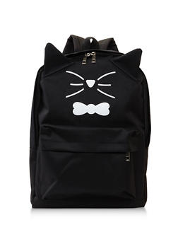 Cat Whisker Graphic Backpack - 3124067448022
