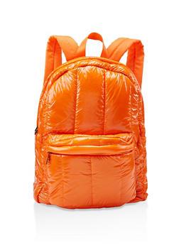 Puffer Backpack - ORANGE - 3124067448043