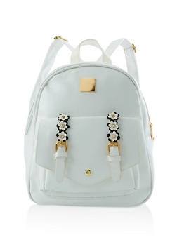 Flower Buckle Backpack - 3124067448046