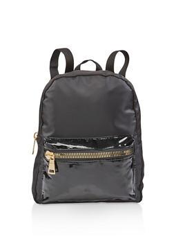 Nylon Zipper Detail Backpack - 3124067448051