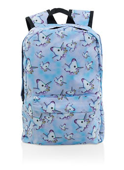 Unicorn Print Backpack - 3124067448054