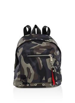 Small Nylon Camo Backpack - 3124067448057