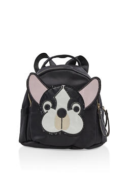 Small Nylon Dog Patch Backpack - 3124067448059