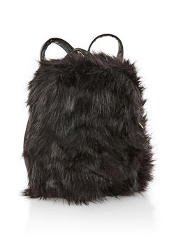 Small Faux Fur Backpack - 3124067448063