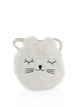 Round Cat Ear Back Pack - WHITE - 3124067448067