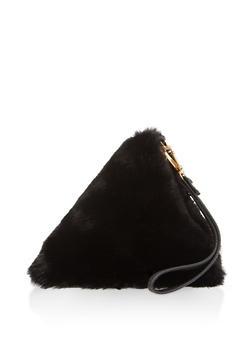 Faux Fur Pyramid Wristlet - 3124067448110