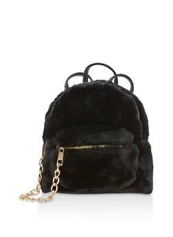 Mini Faux Fur Backpack - 3124067448700