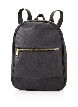 Glitter Backpack - BLACK - 3124067448822