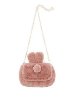 Faux Fur Bunny Ear Crossbody Bag - 3124067448888