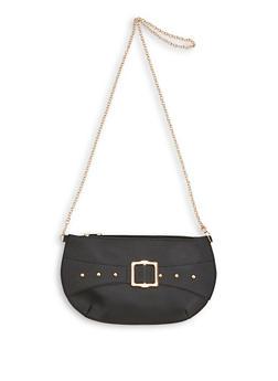 Buckle Detail Slim Crossbody Bag - 3124067448895