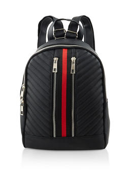 Striped Detail Backpack - 3124067449006