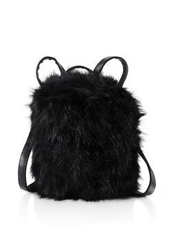 Faux Fur Backpack - 3124067449009