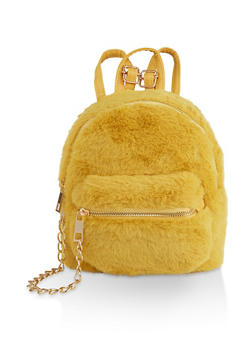 Small Faux Fur Backpack - 3124067449010