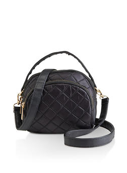 Quilted Nylon Crossbody Bag - 3124067449024