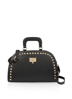 Studded Dome Handbag - 3124067449043