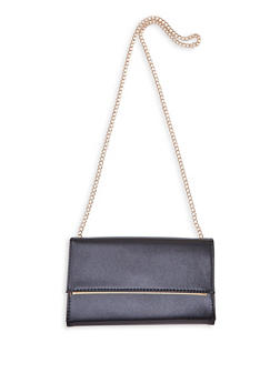 Contrast Trim Rectangular Clutch - 3124067449045
