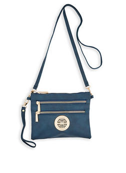 Triple Zip Crossbody Bag - 3124071751194