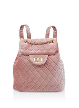 Quilted Velvet Backpack - 3124071756011