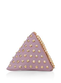 Studded Pyramid Wristlet - 3124071757422