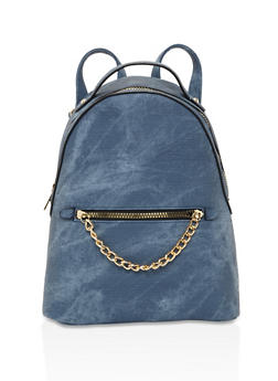 Chain Link Detail Backpack - 3124073331709