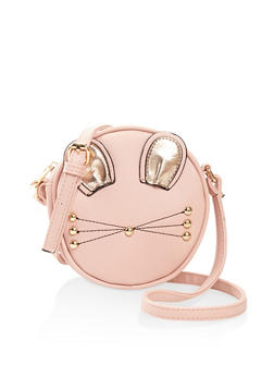 Round Cat Ear Crossbody Bag - 3124073401076