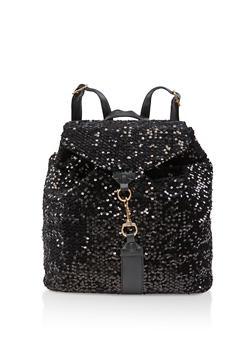 Sequin Backpack - BLACK - 3124073401657