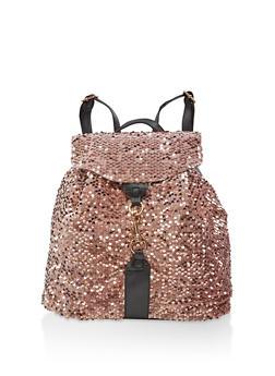 Sequin Backpack - PINK - 3124073401657