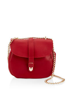 Chain Crossbody Satchel - 3124073402012