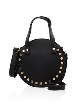 Studded Round Crossbody Bag - 3124073402026