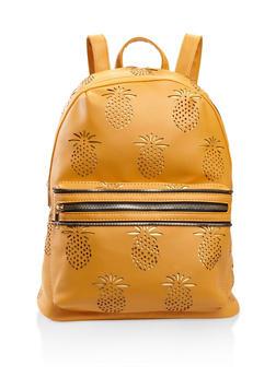 Pineapple Laser Cut Backpack - MUSTARD - 3124073407233