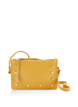 Studded Triple Zip Crossbody Bag - 3124073892569