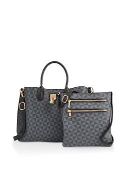 Set of 2 Printed Crossbody Bags - 3124073892772