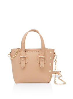 Small Studded Chain Crossbody Bag - 3124073895107